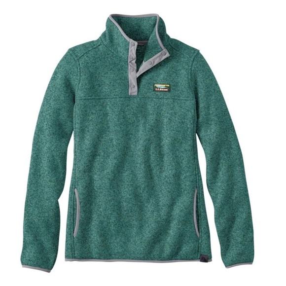 1562105bad583 L.L. Bean Tops | Womens Llbean Green Sweater Fleece Pullover | Poshmark